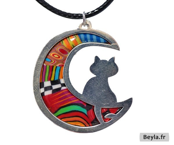 "Collier ""Chat de la lune"""