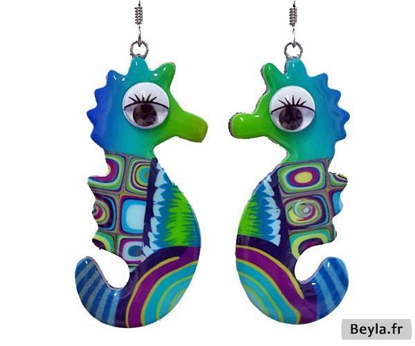 Boucles d'oreilles hippocampes